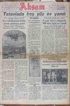 Akşam Gazetesi 23 Ocak 1929 kapağı