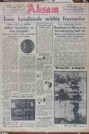 Akşam Gazetesi 24 Ocak 1929 kapağı