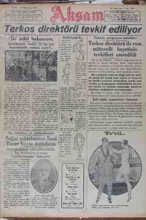 Akşam Gazetesi 25 Ocak 1929 kapağı
