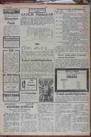 Tagiliz Haci Hüseyin vapurları Haftalık izmir postası Hüseyniye yapuru 24 Mart Pazar Günü ukşamı 18 de Sirkeci nh-...