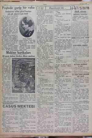10 Nisan 1929 Sahife 6 ğ Bir kaç gün evel Peştede garip — bir vaka olmuştur: Peştenin en — kibar ailelerine — mensup kont —
