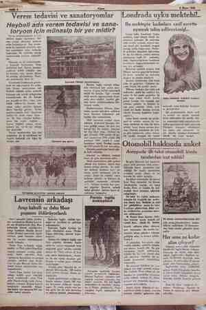 Maya 1929 Verem tedavisi ve sanatoryomlar
