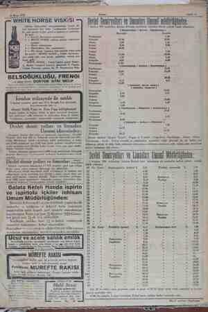 S1 Mayıs 1929 — Akşam Derlet Demiryolları ve Jinanları Uni müdürlüğünden: 1 Haziran 929 tarihinden itibaren bilümum...
