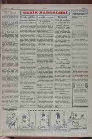 7 Teşrinicvel 1929 e— e. Sahife 3 ARADA SIRADA Meri Dügen Dartlbedayln bu serondaki ilk temsili, bize bir kere daha gi...