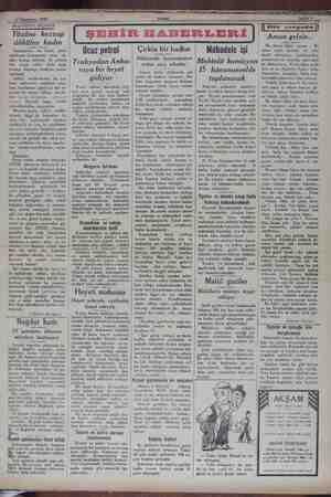 g 6 Teşrinisani 1929 AKŞAMDAN AKŞAMA Yüzüne kezzap dökülen kadın ır'da, bir kadın, güzel kıskanarak, onun - yü- züne