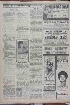 12 Teşrinisani 1929 e Öldün mü yahu? İki gardiyan yalpalaya yalpalaya kalktılar. Herif bir kaç kadeh içtiklerini...