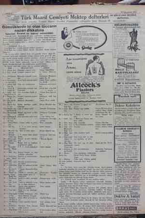 Akşam nrcirĞlelaea 29 Kânunusani 1930 £ Sabife B Türk — Maarif Cemiyeti İstanbul mümessilliğinden: Türk Maarif Cemiyeti Her
