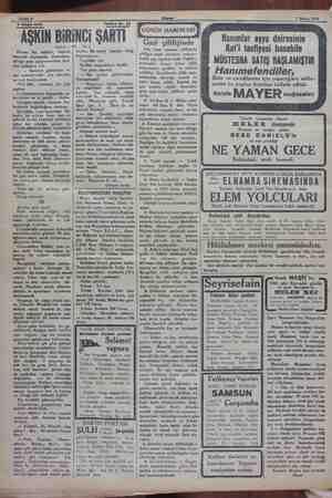 / Sahife 4 6 $ Mayıs 1930. 1930 Tetrika Wo. 24 O, 8 âkıli: ( Vâ - Karım, bir müddet, ei en İn şerefi benden deriğ kenarına