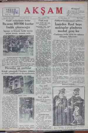 37 Kupon No: Sene 12 — No: 4174 Tahrir telefonu: İstanbul — 1686 SALI — 27 Mayıs 1930 ei Matbaadan eksikleri...
