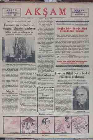 Sene 12 — No: 4177 Tahrir telefonu: İstanbul — 1686 KA CUMA — 30 Mayıs 1930 Kupon No: $ İdare telefonu ; İstanbul — 1484