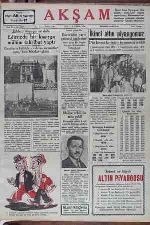 KN Kupon No: 15 Sene 12 — No: 4237 | Üçüncü | Büyük Altın Piyanşesu Tahrir telefonu: İstanbul — 1686 SALI — 29 Temmuz 1930