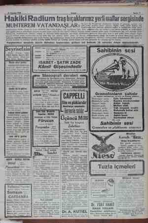 ear ra vg ger A e İNNA Ee TI Ağustos 1930 Sahife 7 Hakiki Radium traş bıçaklarımız yerli mallar sergisinde MUHTEREM...