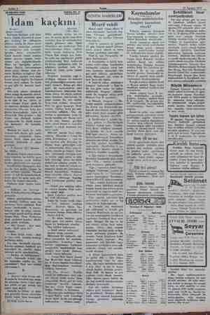 "My A e eee çe, > Sahife 4 2 e a 1930 Tetrika No. 11 po 'İdam"" kaçkını * era Gan Kulübede ilânihaye saklı kala- mazdı...."