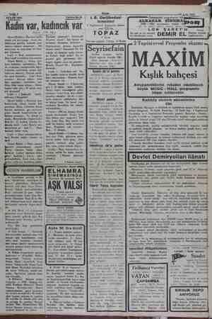 EN hâlde, sizin kaideye — Sahife 4 e 09 Eylül 1930 20Eyidi 1930 Tefrika No. 31 i. B. Darülbedayi Önümüzdeki çarşambadan...