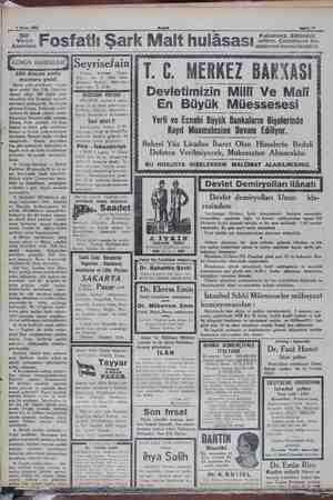 n .—5.Nisan 1931... üren Annelere ».Fosfatlı Şark Malt hulâsas Sahife 11 Kullanınız. Sütünüzü arttırır. Çocukların ke-...