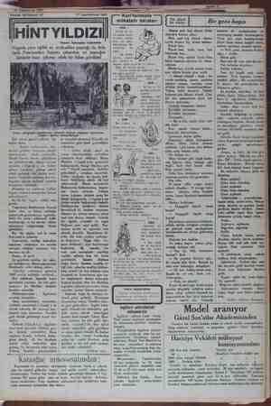 Roman tefrikamız: 67 17 Teşrinievvel 1931 HİNT YILDIZI Yazan: İskender Fahrettin Yogoda yere eğildi ve mukaddes yaprağı üç