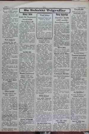 , Sahife 2 Akşam ü vak Nİ <7 45 Teşrinisani 1931 Geçinme masrafı Bir ay evveline nisbetle yüzde 1 fazlalık var Ticaret...