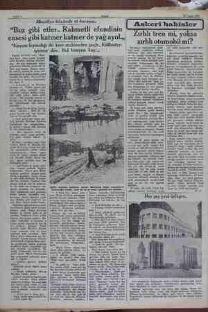 """Sahife 6 20 Subat 1932 Mecidiye köyünde et borsası.. """"Buz gibi etler.. Rahmetli efendinin ensesi gibi katmer katmer de yağ"""