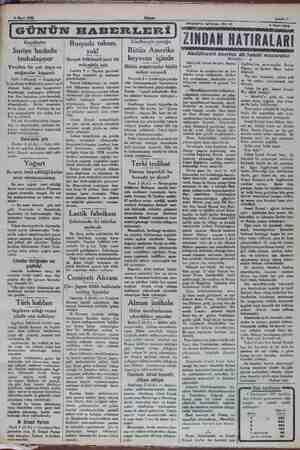 6 Mart 1932 Kaçakçılar Suriye hududu tenhalaşıyor . Yeniden bir çok depo ve , o mağazalar kapandı , o Urfa 5 (Hususi) —...
