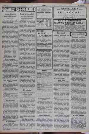 """pe"""" Sahife 4 26 Mart 1932 d ma GR Dün futbol maçları ORA) İzmir at yarışları Bugün ve yarın son olarak ŞIK SİNEMASINDA Büyük"""
