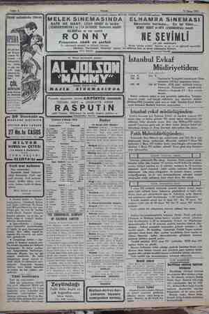 © Sahife 4 Akşam 12 Nisan 1932 inemasında Bir çöl faci- ası Kızgın kumlar Kı- Gi / lıçların vefi mitralyözle- Bi rin...
