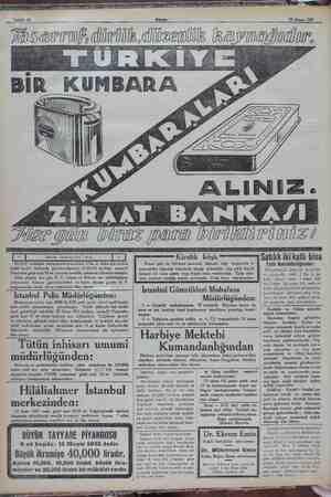 Sahife 10 Akşam 15 Nisan 1932 ii i ten KOP GM Tösarruf, dirlik.dii zenlik kaynağıdır. ZİRAAT BANKAYI biraz mara Dirilkli ri