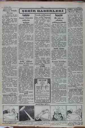 28 Nisan 1932 ARADA SIRADA Himayei Etfalin Davası Çocuk kaftasının ilk günü, bize, fi tarihinin şeker bayram- larını...