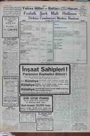 17 Mayıs 1932 Günlük taze yumurta, nefis taz yağ, yoğurt, şişelerde (pastörize) süt e tere- Yalova Millet v ve Baltacı...