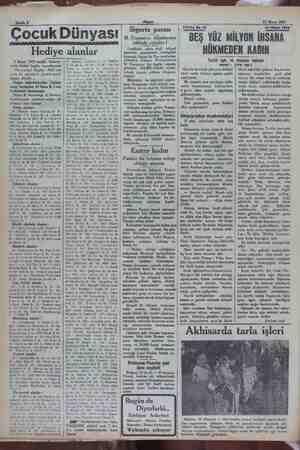 """Sahife 8 Çocuk Dünyası Hediye alanlar 5 Mayıs 1932 tarihli bilmece- mizin hallini bugün neşrediyoruz: """"Hanımlar! Beyler!"""