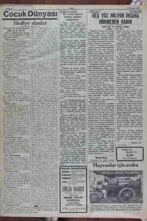 iğ nn ta Sahife 8 Vİ 29 Haziran 1932 Çocuk Dünyası MR AŞ İZ İŞ Aİ Hediye alanlar 9 haziran 1932 tarihli bilmecemiz LALE,