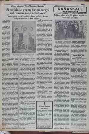 """14 Temmuz 1932 Masal olanlar: Nasıl baştan çıkılırdı? Fi tarihinde geçen bir macerayi kahramanı nasıl anlatıyor? """"Yarın..."""