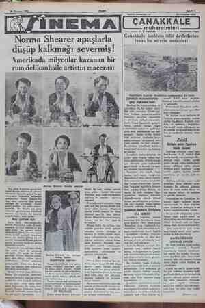 """— m —— SAJN © Norma Shearer apaşlarla düşüp kalkmağı severmiş! """"Amerikada mily Son gelen Amerikan gazeteleri, maruf sinema"""