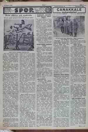 22 Temmuz 1932 we Bizde atletizm pek nankördür Iki yüz metre şampiyonumuz çok şikâyet ediyor Ingiliz atletleri olimpiyat