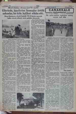 """v- 3İ Temmuz 1932 Masal olanlar: 75 sene evvel bir ziyafet Akşam """"Ellerinde, üzerlerine kumaşlar örtülü sahanlar, bir köle"""