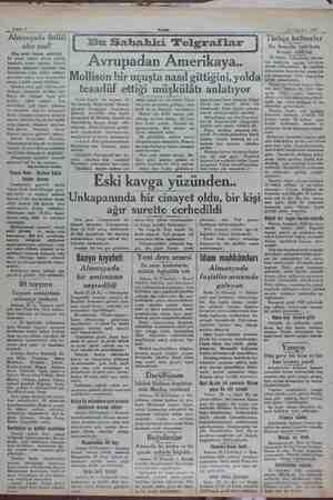 mA e Sahife 2 24 Ağustos 1932 Almanyada ihtilâl Türkçe kelimeler olur mu? Bu hususta tetkikata (Baş tarafı birinci...