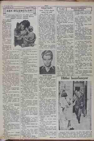 « 21 Aötstos 1932 Tefrika No. 16 —— AŞK DİLENCİLERİ Nakleden: ISKENDER FAHRETTİN 27 Ağustos 1932 Yemek salonunun kapısından