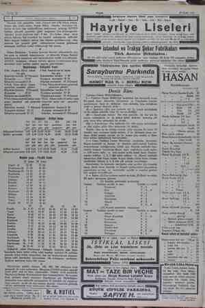 23 Eyüll 1932 Akşam Saraçhane başında Münir paşa konağında Leyli - Nehari - Ana - İlk - Orta - Lise - Kız - Erkek Hayriye...