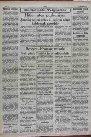 Sabife 2 27 Teşrinisani 1932 Mektep kitapları (Baş tarafı birinci sahifededir) Pahalı kitaplar, daha ziyade Devlet matbaası