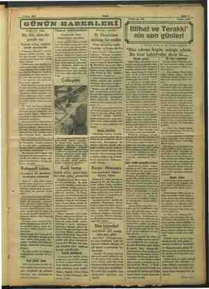 9 Nisan 1933 Akşam ge ai - | GÜNÜN HABERLERİ Kanlı bir vaka Bir ölü, dört de yaralı var m sebep müşteri mak mesele: sidir