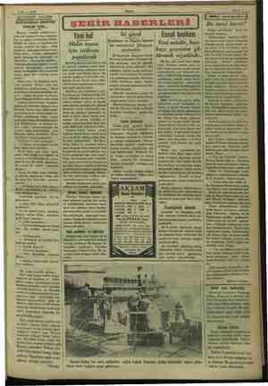 yor 5 Mayıs 1933 AKŞAMDAN AKŞAMA istikbalden ümitvar Imak iç Beyazıt ci yen rasında bulun: , İstanbu: h güzel yerek...