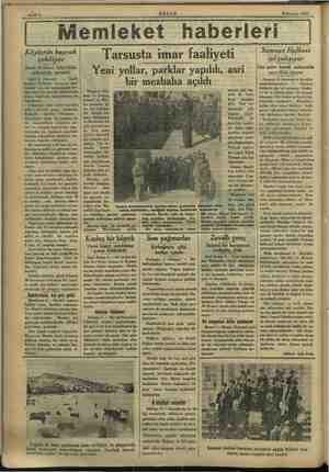 : Sahife 6 AKŞAM . 9 Haziran 1933. emleket haberleri | Köylerde bayrak çekiliyor Izmit Halkevi köycülük şubesinin mesaisi