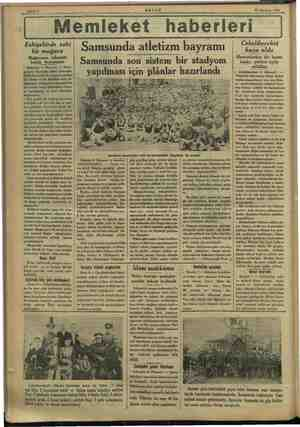 MN Sa bae mz GE Sahife 6 AKŞAM TI Haziran 1933 Wemleket haberleri Eskişehirde eski bir mağara Mn ın nihayeti henüz...