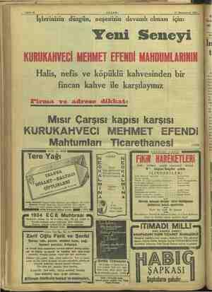 """Sahife 16 AKŞAM. 21 Kânünuevyel 1933 Z . e e .. o.o. e e e * K İşlerinizin düzgün, neşenizin devamlı olması için: a """"lar"""