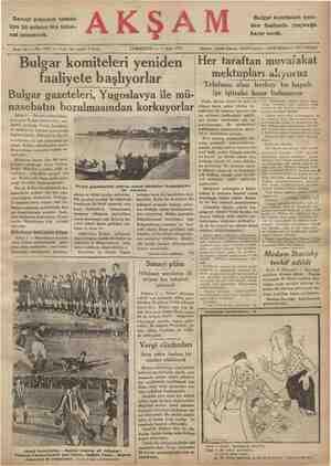 Sanayi plânının tatbiki Için 35 milyon lira tah sat istenecek. > Sene 16 — No: 5531 — Fiati Bulgar komiteleri yeniden her