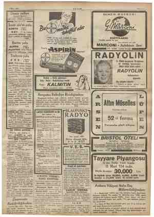 b İL) e rdamaçakır. 0029) 5 Mart 1934 Deniz yolları TME > : Karsköy prübaşı Acenteleri: Bird rim mİ Tel. 42362 — ME > Jia 5 .