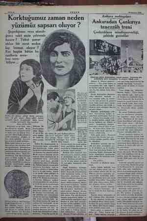 Sahife 8 AKŞAM 14 Haziran 1934 Korktuğumuz zaman neden yüzümüz sapsarı oluyor ? Şaşırdığımız veya utandı- ğımız vakit niçin