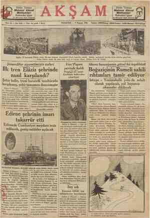 Bütün Türkiye Mehmet Efendi Mahtumları Kahvesini içiyor İst, Mısirçarşısı kapısı karşısında PAZARTESİ — 9 Temmuz 1934 Bütün