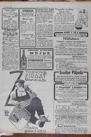 """10 Ağustos 1934 Deniz yolları İŞLETMESİ Acenteleri: Ayvalık sür'at yolu MERSİN """"yu 1! Ağustos Cumartesi 17e Sirkeci..."""