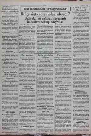 Sahife 2 AKŞAM 11 Ağustos 1934 SON TELGRAFLAR Milletler cemiyeti konseyi toplanıyor Cenevre 10 (Hususi) — Mik etler cemiyeti