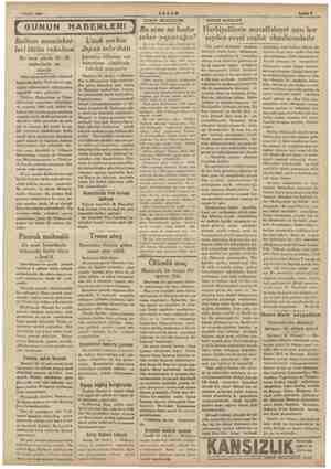 Pepee di EM e AKŞAM e 1 Eylül 1934 ml ( GUNUN HABERLERİ | Balkan memleket-| leri tütün rekoltesi Bu sene yüzde 20-30...